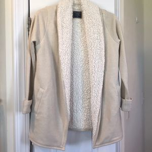 Abercrombie & Fitch Sherpa lined sweater jacket